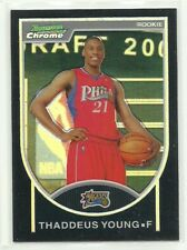 Thaddeus Young    2007-08 Bowman Chrome Refractor Black #D/ 199    76ers