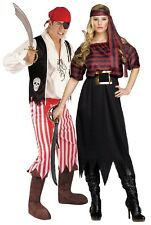 Couples Ladies AND Mens Pirate Halloween Christmas Fancy Dress Costumes Outfits