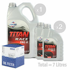 Engine Oil and Filter Service Kit 7 LITRES Fuchs Titan Race Pro R 10W-40 7L