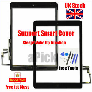 For iPad 5 Air 1 A1474 A1475 A1476 Black Touch Screen Replacement Digitizer Tool
