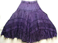 Skirt Renaissance Fair RenFair Old West Victorian Pioneer Pirate Boho one size