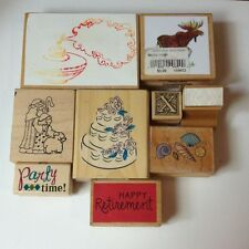 Rubber Stamp Collection 9 Pieces Cake Shells Perfume Moose Part Retirement X