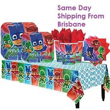 PJ Masks Party Pack For 8 Guests with Plates, Cups, Napkins, Table Cover Kids