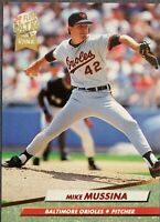 Mike Mussina '92 Fleer Ultra Rookie Baltimore Orioles Baseball Card #9 M/NM