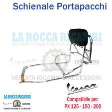 PORTAPACCHI POSTERIORE CON SCHIENALE E MANIGLIA VESPA PX 125 150 200
