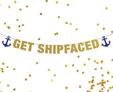 Get Shipfaced Banner, Bachelorette Banner, Bachelorette Party Banner, Sailor