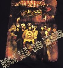 New Nos Motley Crue Fan Club Shirt Mens Sz M Rock Metal Thrash 2006 S.I.N Sin