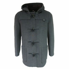 Mens Gloverall Mid Length Black or Grey Classic Duffle Coat
