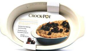 1 Ct Crock Pot Artisan Stone Ware Bake Pan Perfect Baking & Serving Green Fade