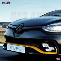 GLOSS BLACK RENAULT CLIO 4 IV 2013-2018 GRILL BADGE EMBLEM RS Sport cf