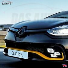 GLOSS BLACK RENAULT CLIO 4 2013-2018 GRILL BADGE EMBLEM RS Sport cf
