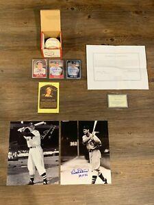 Bobby Doerr Signed Lot: Baseball, HOF Plaque, Photos, Cards, One Price!