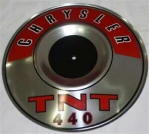 NEW Mopar Red Chrysler 440 TNT Air Cleaner Pie Tin