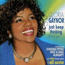 GLORIA GAYNOR Just Keep Thinking About You/I Will Survive (CD 2001) Maxi-Single