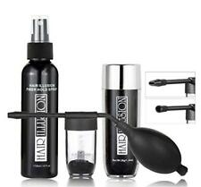 Hair Loss Treatment kit combo Pack by HAIR ILLUSION - 100% Real Human Hair Fiber
