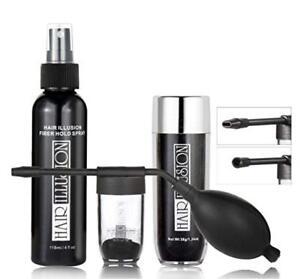 Hair Fiber Application Solutions Combo Pack Kit Set | Spray+ Applicator + Fibers