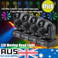 4x 30w RGBW Spot Stage Light LED Moving Head Lights DMX Disco DJ Party 7/10 CH