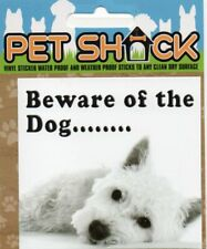 """CLASSIC SIGN AND DESIGN - """"BEWARE OF THE.."""" DOG/PUPPY/STICKER     *NEW & SEALED*"""