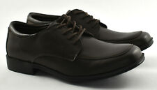 New, Brown Leather Kid Club Oxford, Kenneth Cole Reaction, Big Kid Size 4, Boys'