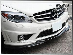 GH Type Carbon Fiber Front Bumper Lip For 06-10 Mercedes-Benz W216 CL63 CL65AMG