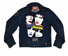 Levi's Kiss Asylum Trucker Jacket Small Custom Patches Led Zeppelin Tour 80s vtg