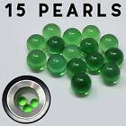 Terp Pearls 4mm Quartz Balls Green 15 pcs USA Seller