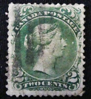 *Kengo* Canada Stamp #24 Large Queen 2 cents CV$80 @337