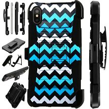 Lux-Guard For iPhone 6/7/8 PLUS/X/XR/XS Max Phone Case Cover CHEVRON TEAL