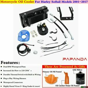 Motorcycle Cooling System Oil Cooler for Harley Softail Deuce FXSTD 2001-2017