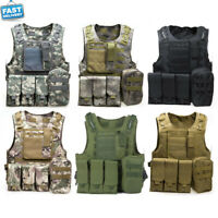Tactical Military Field Battle Airsoft Combat Molle Assault Plate Carrier Ves