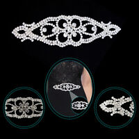 Diamante Silver Motif Crystal Patches for Sewing Embellishment Clothing Crafts