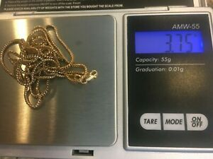 """14K Yellow Gold Chain Necklace Fix or Scrap 3.75 g 14KT Italy SV Long 28"""""""