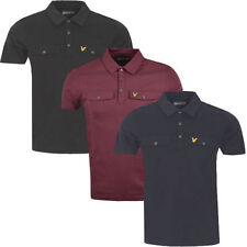 Lyle & Scott Men's Cotton Short Sleeve No Pattern Casual Shirts & Tops
