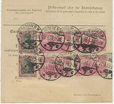 """DT.REICH Germania Kriegsdruck 50 Pf (4 x) und """"Nord und Süd"""" 2,50 M (4 x), selt."""