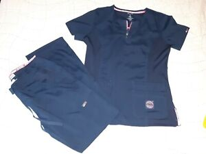 Koi Lite Scrubs Set With Medium Top & Small Pants NAVY BLUE  ~ New without tags