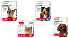 More details for beaphar wormclear worming tablets / spot on roundworm tapeworm cats dogs wormer