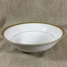 Harrods Tazón de fuente de China Blanco Oro Adorno Porcelana Plato de ensalada de gran tamaño