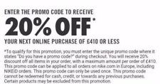 Nike 20% OFF Pulse réduction Code Voucher Code promo 1 90 95 ID Jordan KD SB QS 0