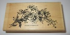 """Daisy Flowers Rubber Stamp Sprig Stampin' Up! Retired Daisies Leaves Swag 3.75"""""""