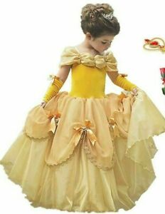 Princess Belle Costume Ball Gown Beauty And The Beast Size 6-7 years