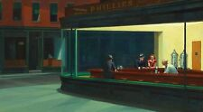 "Nighthawks by Edward Hopper, 9""x16"", Giclee Canvas Print"
