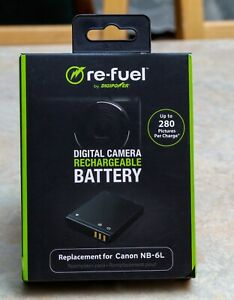 Digipower - Re-Fuel Rechargeable Lithium-Ion Replacement Battery for Canon NB-6L