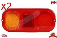 PAIR JCB 3CX Parts Rear Light Unit Complete 4CX Side Indicator Lens x2