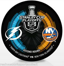 detailed look 2dceb 09288 2016 NEW YORK ISLANDERS TAMPA BAY LIGHTNING STANLEY CUP PLAYOFFS SOUVENIR  PUCK