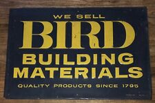 Original Early Bird Building Materials Sign (Metal) 30 x 20 Blue & Yellow