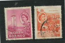 North Borneo Stamps Scott #271-272 (2) Used,VF (X7000N)