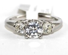 1.19Ct H VS2 Round Diamond Solitaire Engagement Ring 18k White Gold