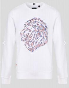 New Mens Luke 1977 Bayeux White Sweatshirt Size M £39.99 Or Best Offer RRP £75