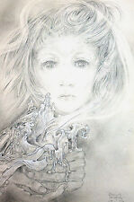 Sulamith Wulfing 1985 THE FLAME Beautiful Child w Candle Matted Calendar Print