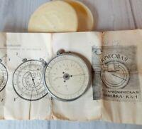 Vintage Slide Rule Circular Logarithmic Ruler in Box USSR Calculator Original